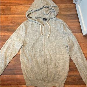 J.Crew Hooded Zip Up Sweater